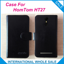Buy 6 Colors Hot!! 2017 HomTom HT27 Case, High Original Leather Exclusive Cover Phone Bag Tracking for $4.59 in AliExpress store