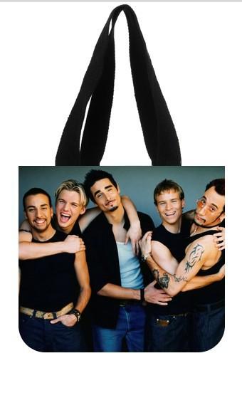 Backstreet Boys Tote Bag (2 Sides) Canvas Shopping Bag free shipping U850681(China (Mainland))