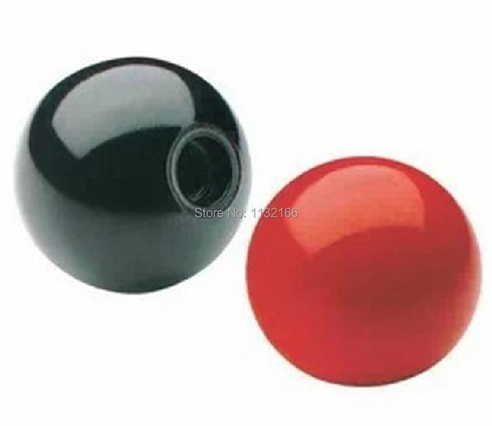 5PCS M10 Female 35mm Dia Solid Black Plastic Ball Lever Knobs for Machine Tools