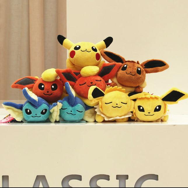 2016 Pokemon Plush Small Pendant 18CM Pikachu TV Girls birthday gifts Mobile Phone Accessories pokemon keychain(China (Mainland))