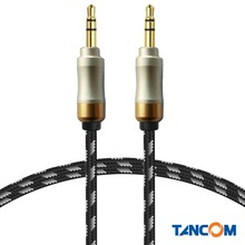 NEW 1M / 3FT 3.5mm Aux Cable Gold Plated 3.5 MM male to male spring telescopic aux car audio line for iphone 5s 6 /Samsung/HTC