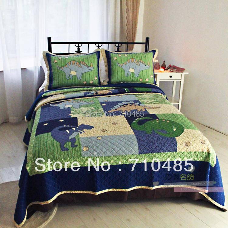 Free shipping dinosaur bedding sets applique patchwork Wholesale bedroom sets free shipping