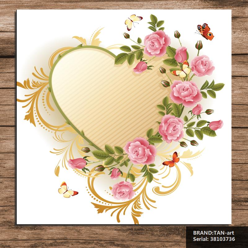 Heart rose Animal Europe oil Painting Drawing art Spray Unframed Canvas Frameless straw straw room iron technical wire 38103736(China (Mainland))