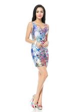 Fashion TQ074 Women's 3D printing golden water drop cool cartoon prints elastic summer sexy Girl bodycon tight dress