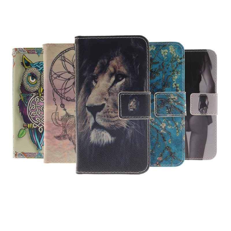 Flip Leather Mobile Phone Case for Sony Xperia T3 t 3 M50W D5103 dual Fundas Wallet Cover Cases For Sony t3 with Card Slot stand(China (Mainland))