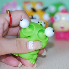 Забавный мультфильм животных вентиляционные сжатие глаза декомпрессия игрушки куклы брелок хватит и анекдоты игрушки