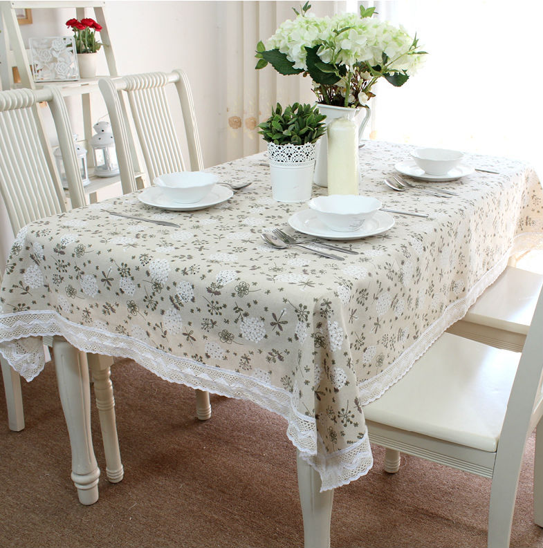 Linen Table Cloth Tablecloth Table Cover Dining Table Decoration Mantel De Mesa Lace Tableclothes Pinted Woven Free Shipping(China (Mainland))