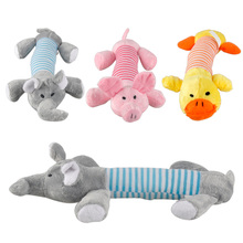 3pcs/lot Funny New Dog Toy Pet Chew Squeaker Squeaky Plush Sound Toys Duck Pig Elephant Play Toys for Puppy Big Pets Dogs(China (Mainland))