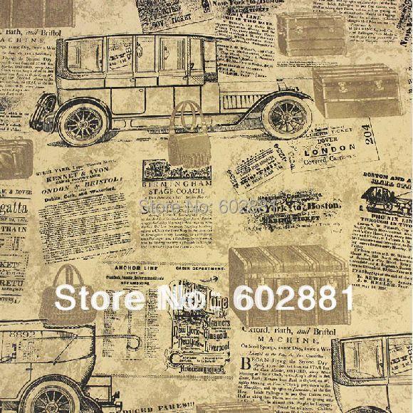 6093 vintage newspaper vinyl wallpaper rolls for living. Black Bedroom Furniture Sets. Home Design Ideas