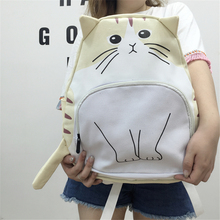 Buy New Cartoon Style Women Backpack Large Capacity Canvas Schoolbag All-match Lovely Cat Characters Rucksack for $30.00 in AliExpress store