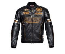 SIMPSON SJ4113 Hiver vêtements Moto veste d'équitation PU locomotive veste racing Vestes Livraison gratuite(China (Mainland))