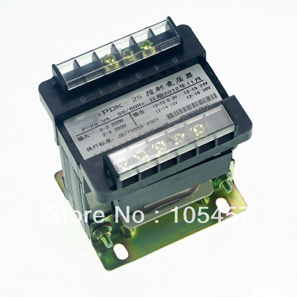(1)Input AC 380V Output AC 220V Single Phase Volt Control Transformer 25VA Power(China (Mainland))