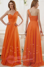 one shoulder Cheap Long Short Red Orange Bridesmaid Dresses 2016 To Wedding  Party Dress Prom Sexy Under 50 maid of honor dress(China (Mainland))