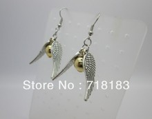 HOT!!! 5Pairs(10PCS) Silver Tone The Golden Snitch Harry Potter Style Drop Earrings Jewelry Personality Girl Gift  Free Shipping(China (Mainland))