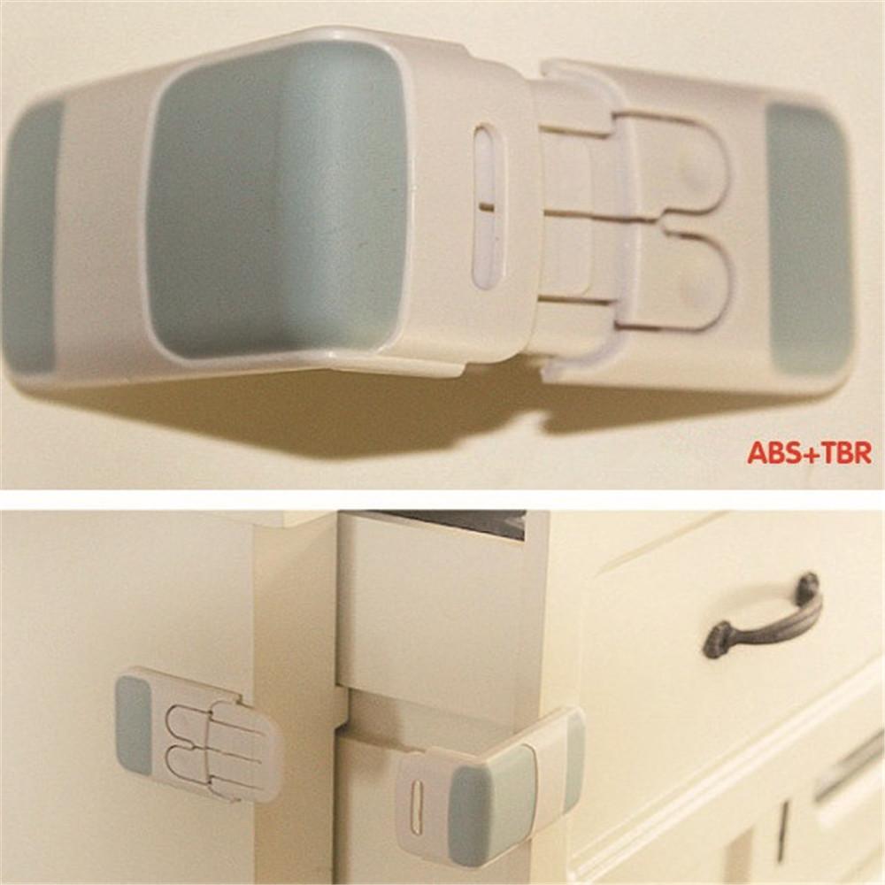 Quality Brand Cabinet Drawer Cupboard Refrigerator Toilet Door Closet Plastic Lock Baby Safety LockCare Baby Safety Cabinet Lock(China (Mainland))