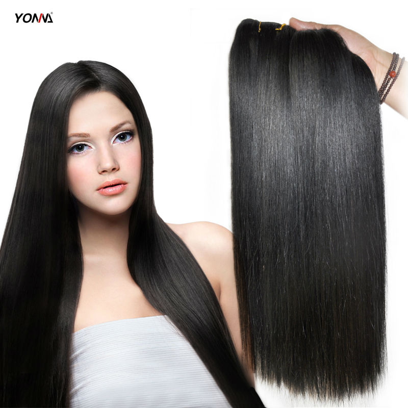 "YOTCHOI INDIAN REMY HAIR WEAVES SILKY STRAIGHT 1# JET BLACK COLOUR 3PCS/LOT 100% REMY HUMAN HAIR EXTENSIONS 8""-26"" 100G/PIECES(China (Mainland))"