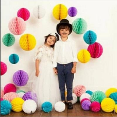 "100pcs Honeycomb Ball Paper Tissue Lanterns Wedding Birthday Party Decorations 6"", High quality(China (Mainland))"