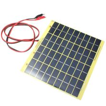 Hot Sale 18V 5W Polycrystalline Silicon Solar Cell Solar Panel+Crocodile Clip Diy Solar System for Battery Charger(China (Mainland))