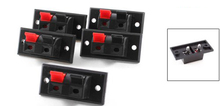 5x 5 Pcs 2 Positions Connector Terminal Push in Jack Spring Load Audio Speaker Terminals
