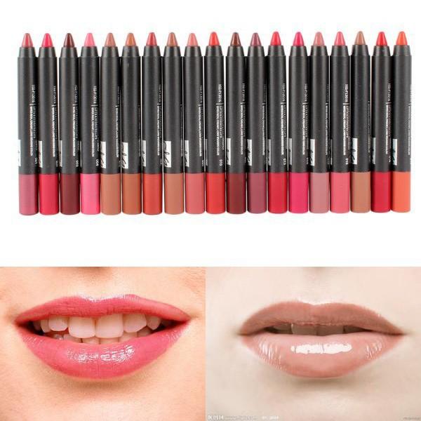 1pcs Moisture Waterproof kiss proof Long Lasting crayon lips matte Lipstick brand makeup pen lip balm pencil pomade(China (Mainland))