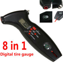 Buy 8 1 Digital Tyre Gauge first aid rescue T&E tools Pressure & Vacuum Testers Tire Gauge Precision Digital Monitors for $14.31 in AliExpress store