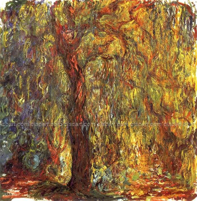 Quadros De Parede Sala Estar Abstract Techniques Large Acrylic Paintings Kitchen Free Claude Monet Weeping Willow(China (Mainland))