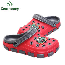 Funny Kids Shoes Niños Sandalias-zuecos Niños Respirables de Los Zapatos de Verano Para Niñas niños Playa Sandalias Niños Zapatillas Al Aire Libre(China (Mainland))