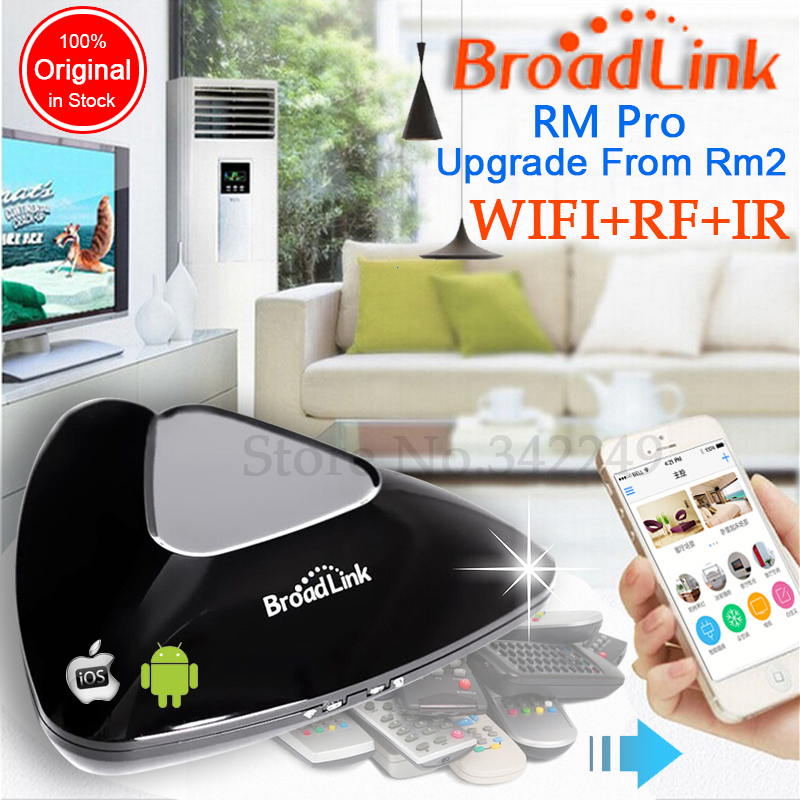 Original Broadlink RM2 RM Pro,Smart home Automation,Universal Intelligent remote controller,WIFI+IR+RF switch via iphone Android(China (Mainland))