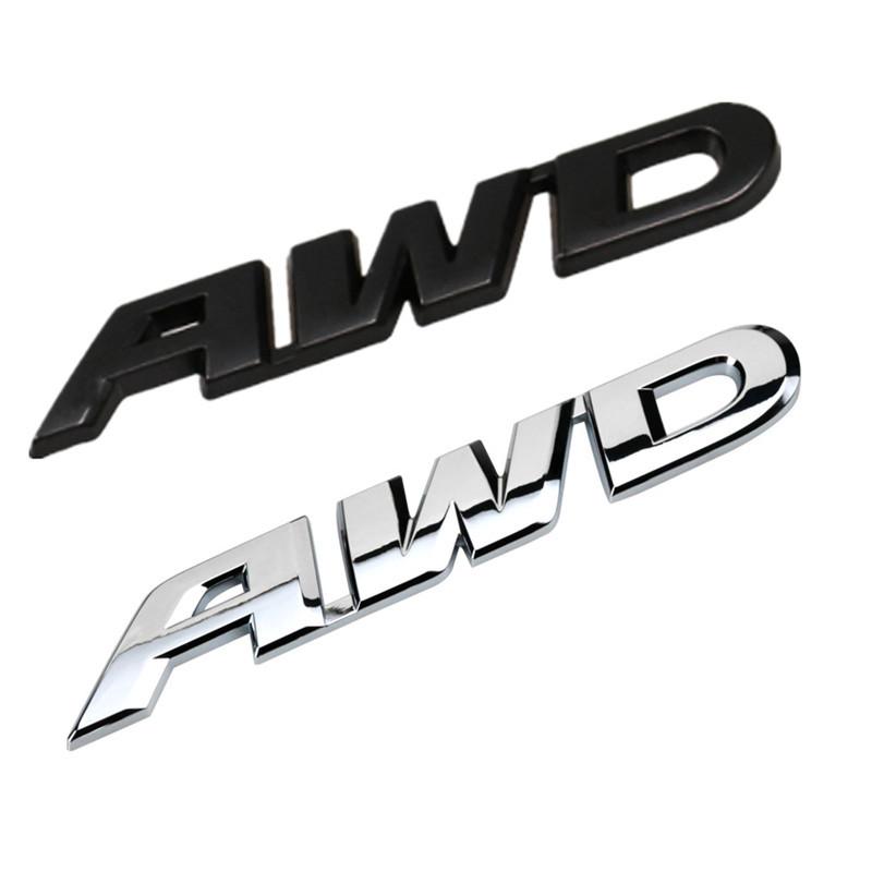 3D Car Styling Metal Sticker AWD Emblem Badge Logo Tail Fender Decal Accessories for Toyota Impreza Subaru Honda 4X4 Off Road(China (Mainland))