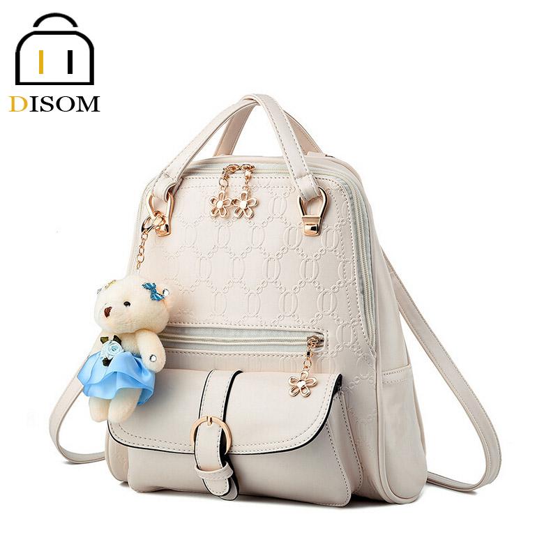 Disom Yeni beyaz deri sırt Sıcak Satış sırt paketi seyahat Moda 6 Renkler patchwork pu deri fermuar sırt çantası kadın(China (Mainland))