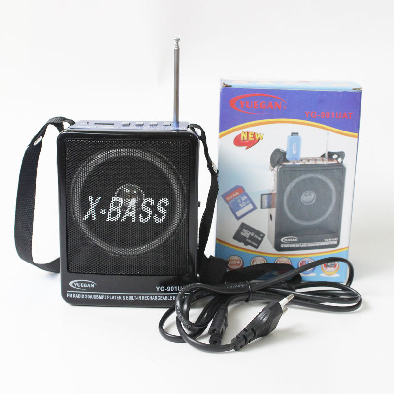FM Radio SD USB MP3 Player BuilT IN Rechargeable Battery with LED Lights Portable Universal Home