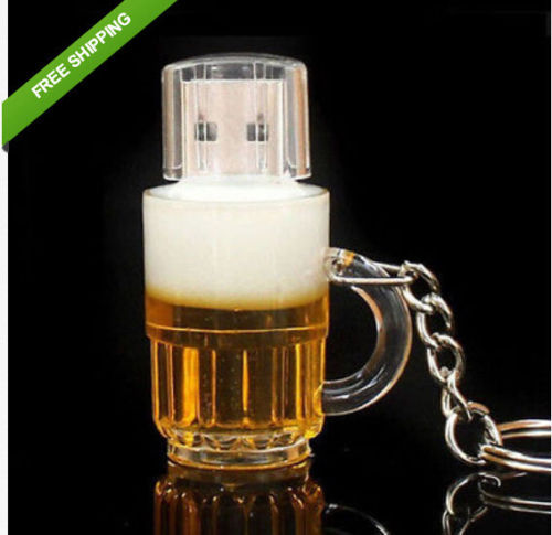 Real capacity Free shipping Beer Bottle U disk usb flash drive 8GB/16GB/32GB/64GB pen drives pendrive memory stick U00044(China (Mainland))