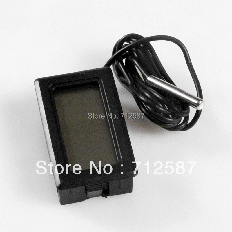 free shipping LCD Digital Panel Thermometer Temperature Meter(China (Mainland))