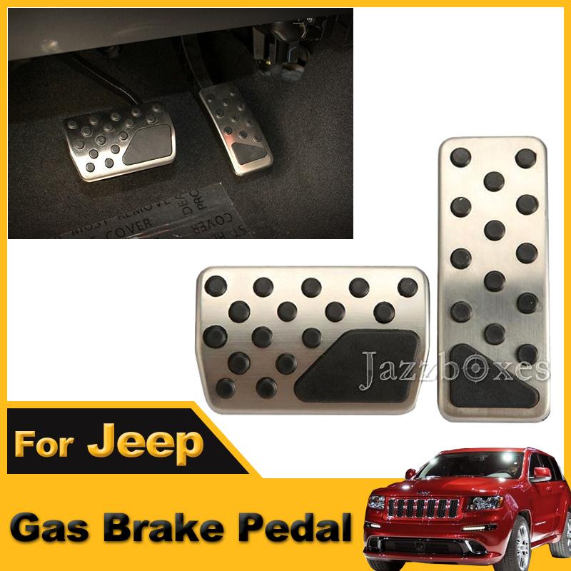A set of 2pcs Die-cast Aluminum+ Rubber Gas Brake Pedal For Jeep Grand Cherokee/Dodge Durango 2011~2014 <br><br>Aliexpress