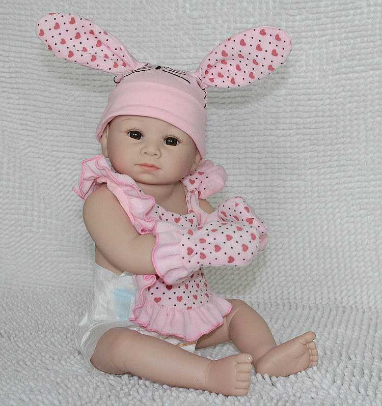 20inch 50cm New Vinyl Cute Super Simulation Reborn Baby Doll Lifelike Lovely Toy Doll Gift for Child Pink Girl(China (Mainland))