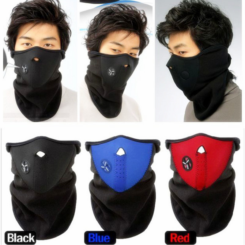 Thermal Neck Warmers Fleece Balaclavas Hat Headgear Winter Skiing Ear Windproof Face Mask Motorcycle Bicycle Scarf(China (Mainland))