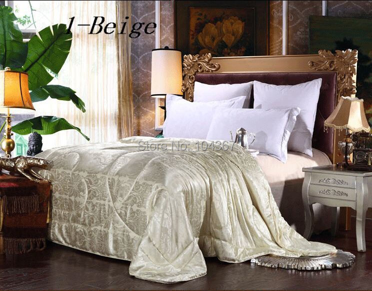FREE SHIPPING Winter duvet 100% mulberry silk quilt/ comforter every size weight about 2kg Queen 200*230/ KING220*240cm(China (Mainland))