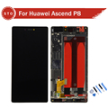 For Huawei Ascend P8 LCD Screen Display With Touch Screen Digitizer Assembly with frame Black white