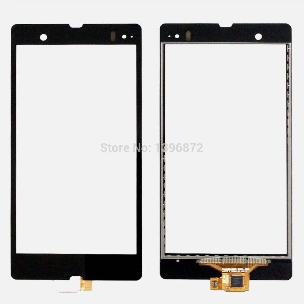 For Sony Xperia Z L36h L36i C6603 C6602 C6606 Black New Outter Touch Screen Panel Digitizer Glass Lens Repair Replacement Parts
