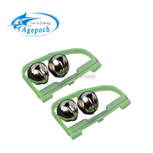 5pcs Outdoor LED Light Night Twin Rod Bells Ring Tip Fishing Bait Lure Accessory alarm product clip on rod