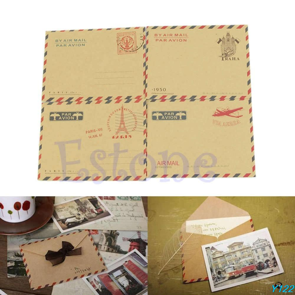 Free shipping New Vintage 10 Sheets Postcard Letter Stationery Mini Envelope Storage Paper-122(China (Mainland))
