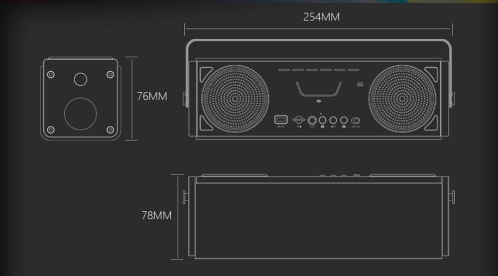 Wireless Loudspeaker Speaker 10W*2 8