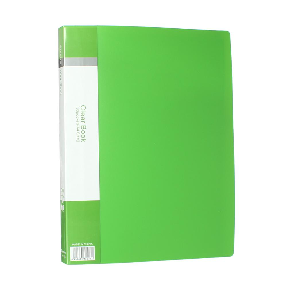 Pvc Clear Book A4 Paper File Folder 30 Pocket Presentation