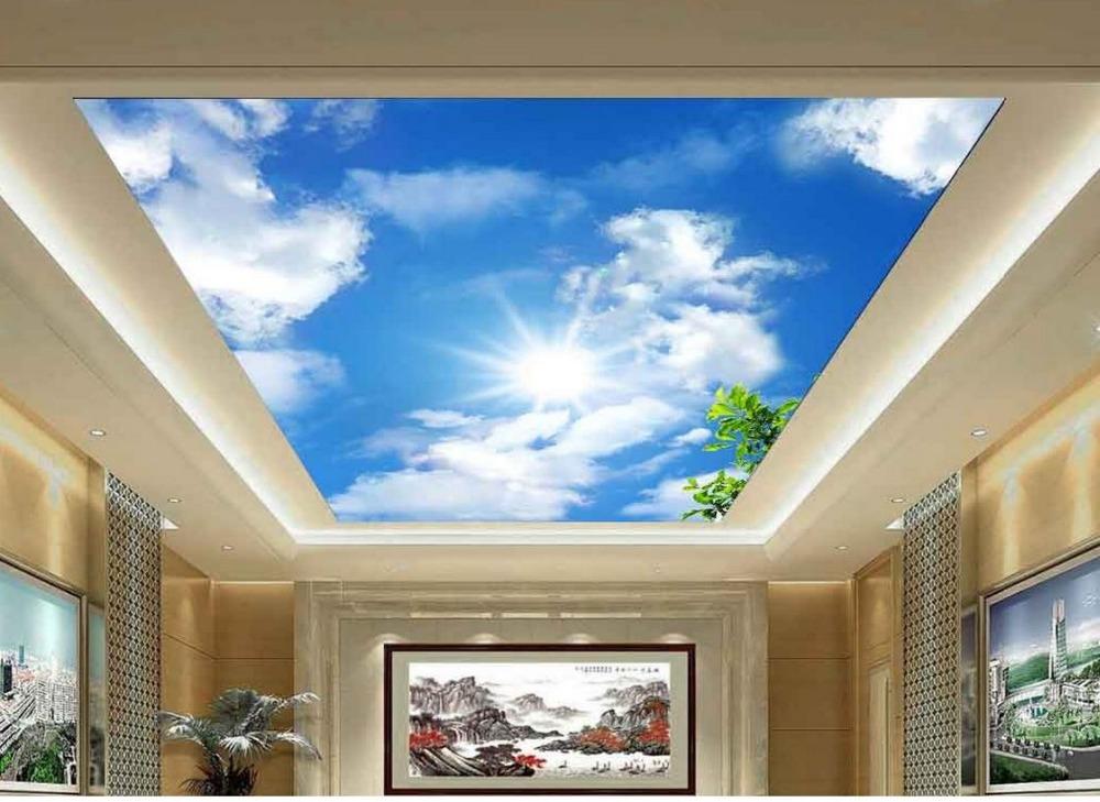 3d room wallpaper landscape ceiling 3d stereoscopic for Wallpaper home improvement