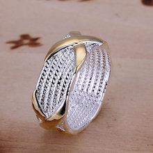 Мода Ювелирные Изделия Посеребренные Кольца для Женщин Крест Форма Свадебные Ювелирные Изделия, X Кольцо обручальные Кольца Размер 6-10 anelli донна(China (Mainland))