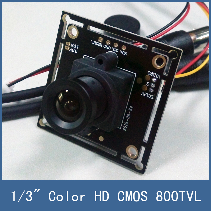 """2016 Hot Sell 1/3"""" Color HD CMOS 800TVL Board CCTV Camera Module , 3.6mm Lens + PAL or NTSC Optional + Free Shipping(China (Mainland))"""