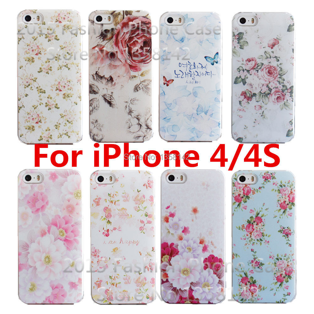 Гаджет  Romantic flower 17 Styles Colorfull Painted Shell Cover Case for Apple iPhone 4 4S 4G,Cases For iPhone4 iphone4S Free Shipping None Телефоны и Телекоммуникации