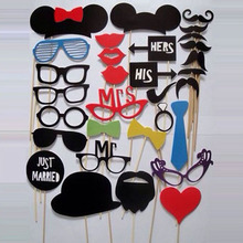 Buy Photo Booth Props 31 Pcs/Set Photobooth Wedding Birthday Party Photo Booth Props Glasses Mustache Lip Stick for $2.35 in AliExpress store
