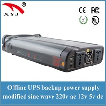 220v power bank rated 400W peak 800W with USB for phone