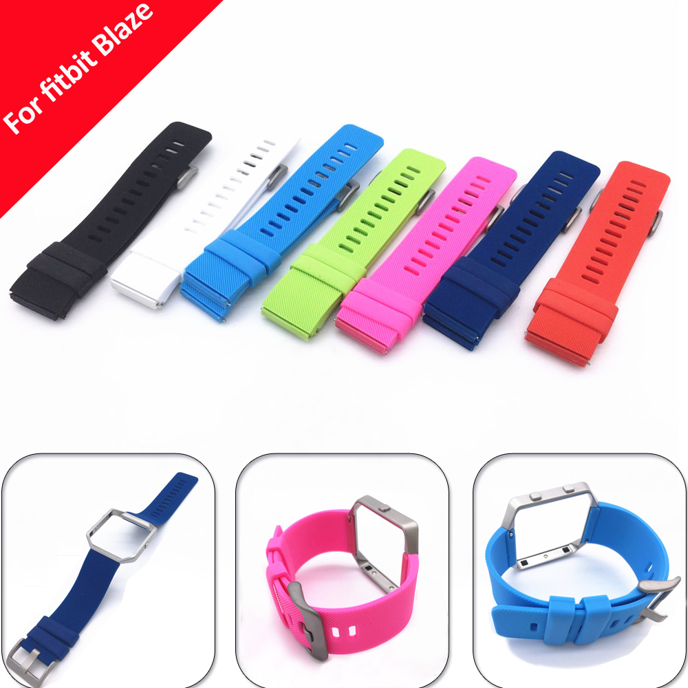 NOTO New High Quality Large Size Various Colors Soft Silicone Watch Band Wrist Strap For Fitbit Blaze Smart Watch FBBZOSSB(China (Mainland))